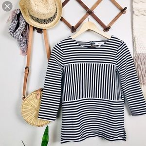 Madewell Striped Gallerist Ponte Top